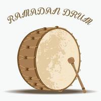 tambor e botão do ramadã vetor