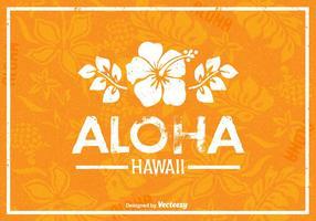 Poster retro do vetor do havaí livre