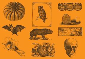Desenhos de Halloween vetor