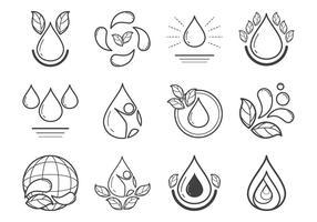 Vetor de ícones de água