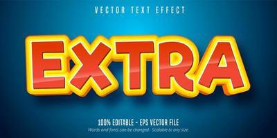 efeito de texto de contorno empilhado extra brilhante vetor