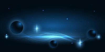 design de espaço abstrato azul escuro