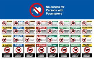 sem acesso para pessoas com sinal de marcapasso definido