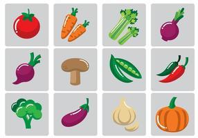 Ilustração vetorial dos vegetais