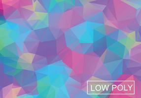 Vetor geométrico de ilustração de estilo de poli baixo de cor legal