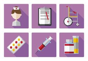 Conjunto de ícone de enfermeira de vetores