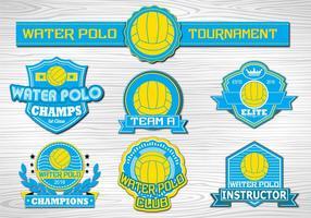 Coleção de etiquetas Water Polo Sport vetor