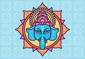 Cabeça de elefante hindu Deus Lord Ganesh. Hinduísmo. Feliz Ganesh Chaturthi.