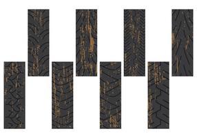 Marcas sujas de pneus vetor