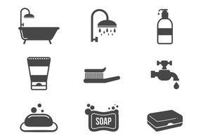Vector grátis dos ícones do banheiro