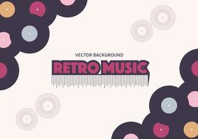 Fundo de música retro vetor