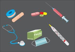 Vector do Kit Médico