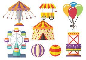 Pacote de vetores de circo e feiras grátis
