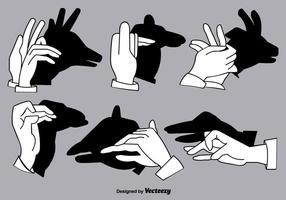 Conjunto de Shadow Hand Puppets - Vector Elements