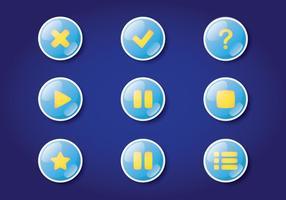 Botão de jogo digital vetor