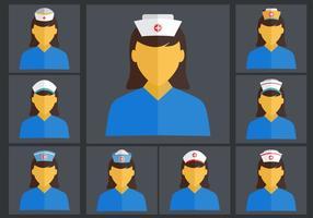Conjunto de vetores lisos de enfermeira