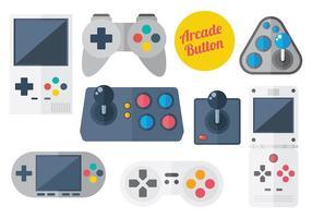 Vetor de ícones do botão arcade grátis
