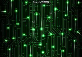 Fundo verde do vetor da placa de circuito
