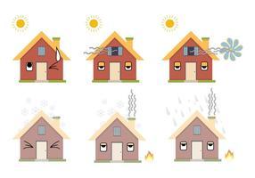 Conjunto de vetores de ícones HVAC