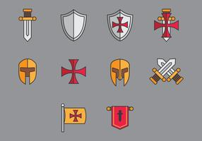 Vetores de ícones templários
