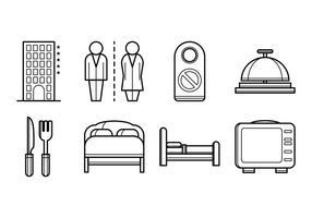 Ícone do ícone do hotel gratuito vetor