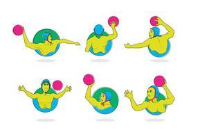 Vector desportivo de pólo aquático