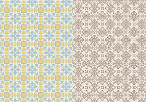 Padrão de mosaico ornamental vetor
