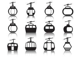 Conjunto de ícones do teleférico