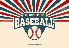 Fundo retro do basebol vetor