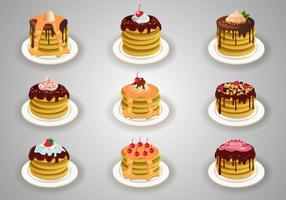 Stock Pancake com cobertura vetor