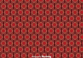 Padrão de azulejos portugueses vermelhos vetor