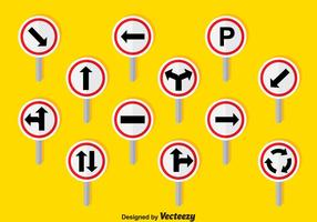 Vetor de setas de trânsito