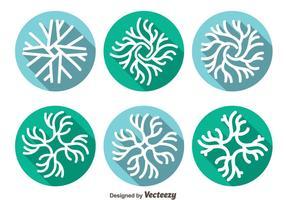 Ícone do ícone de neurônio vetor