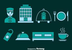 Ícone dos ícones dos elementos do hotel vetor
