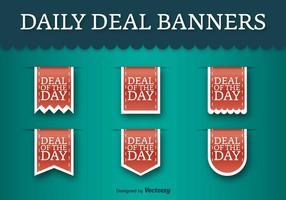 Etiquetas do vetor do dia do dia - Etiquetas de desconto do vetor