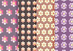 Padrões florais do vetor bonito