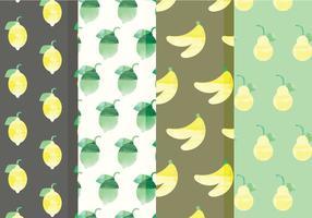 Vector padrões de frutas e citrinos