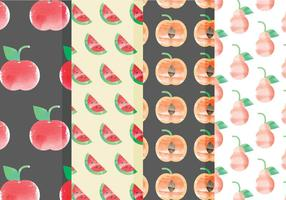 Padrões de frutas vetoriais vetor