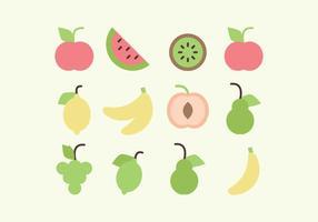 Coleção de frutas vetoriais vetor