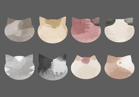 Coleção de gatos aquarela de vetores
