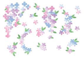 Flores de aquarela de vetores