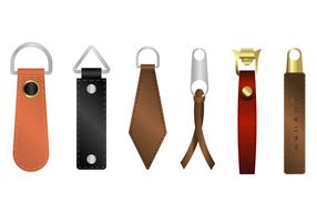 Livre de couro zipper pull vector