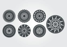 Vetor de pneu do trator