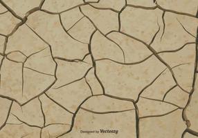 Terra do vetor quebrada por causa da seca