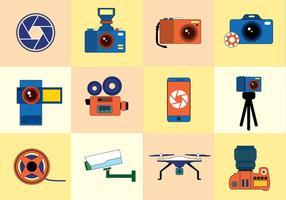 Vetor de ícones de fotos grátis