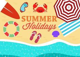 Ilustração vetorial grátis da praia de verão vetor
