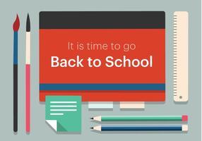 Ilustração vetorial gratuita de volta à escola vetor
