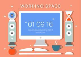 Ilustração vetorial livre do espaço de trabalho vetor