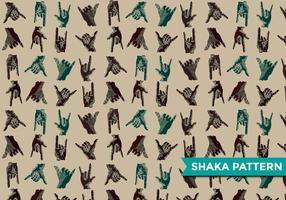 Vetor de padrão moderno shaka