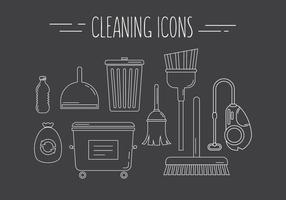 Limpando ícones vetoriais vetor